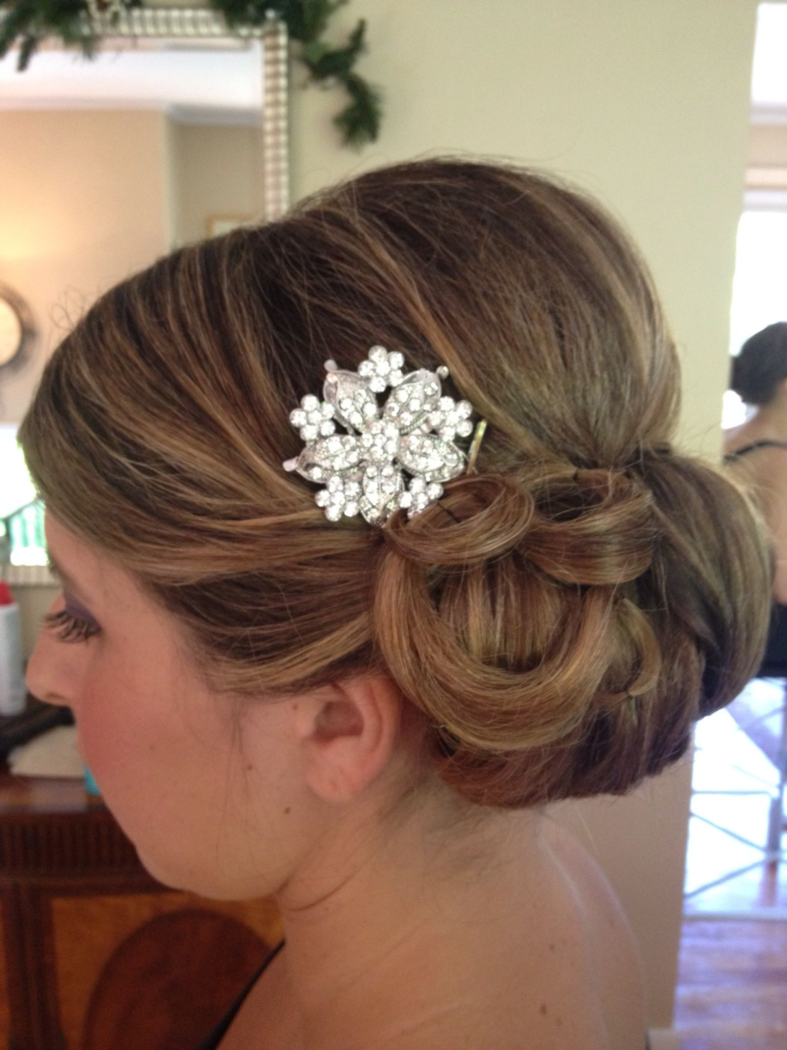Hairdo Wedding, Bridal Hair, Twist Braids Intended For Most Popular Side Bun Prom Hairstyles With Orchids (View 4 of 20)