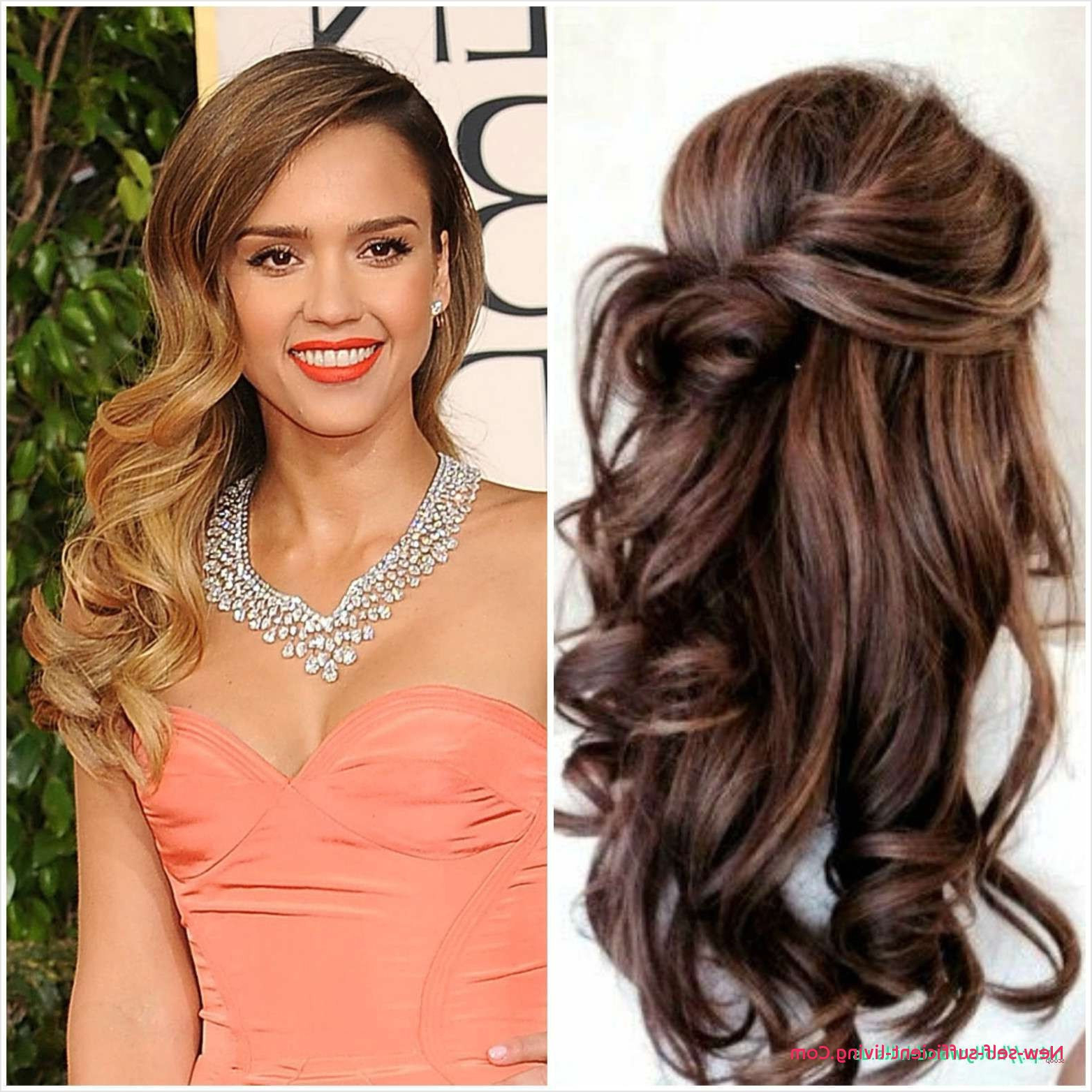 Hairstyles : Bridesmaid Hairstyles Unique For The Big Day Wedding To Within 2018 Curly Half Updo With Ponytail Braids (Gallery 13 of 20)