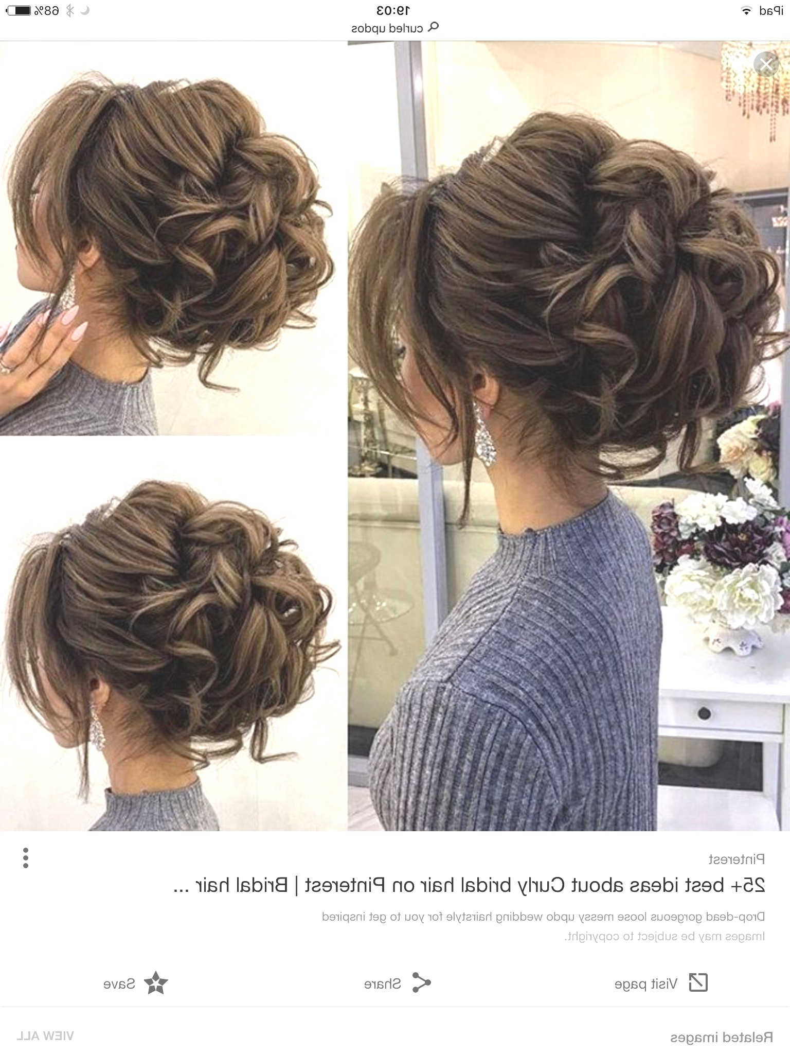 Hairstyles : Curly Side Bun Wedding Hairstyles Astounding Hair For With Fashionable Side Bun Prom Hairstyles With Soft Curls (View 10 of 20)