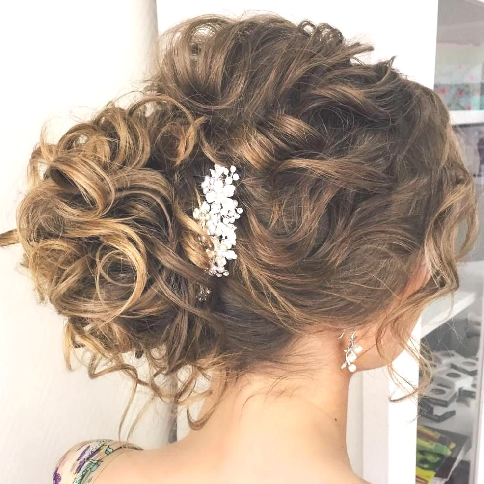 Hairstyles : Curly Side Bun Wedding Hairstyles Cool 20 Soft And With Most Current Side Bun Prom Hairstyles With Soft Curls (Gallery 6 of 20)