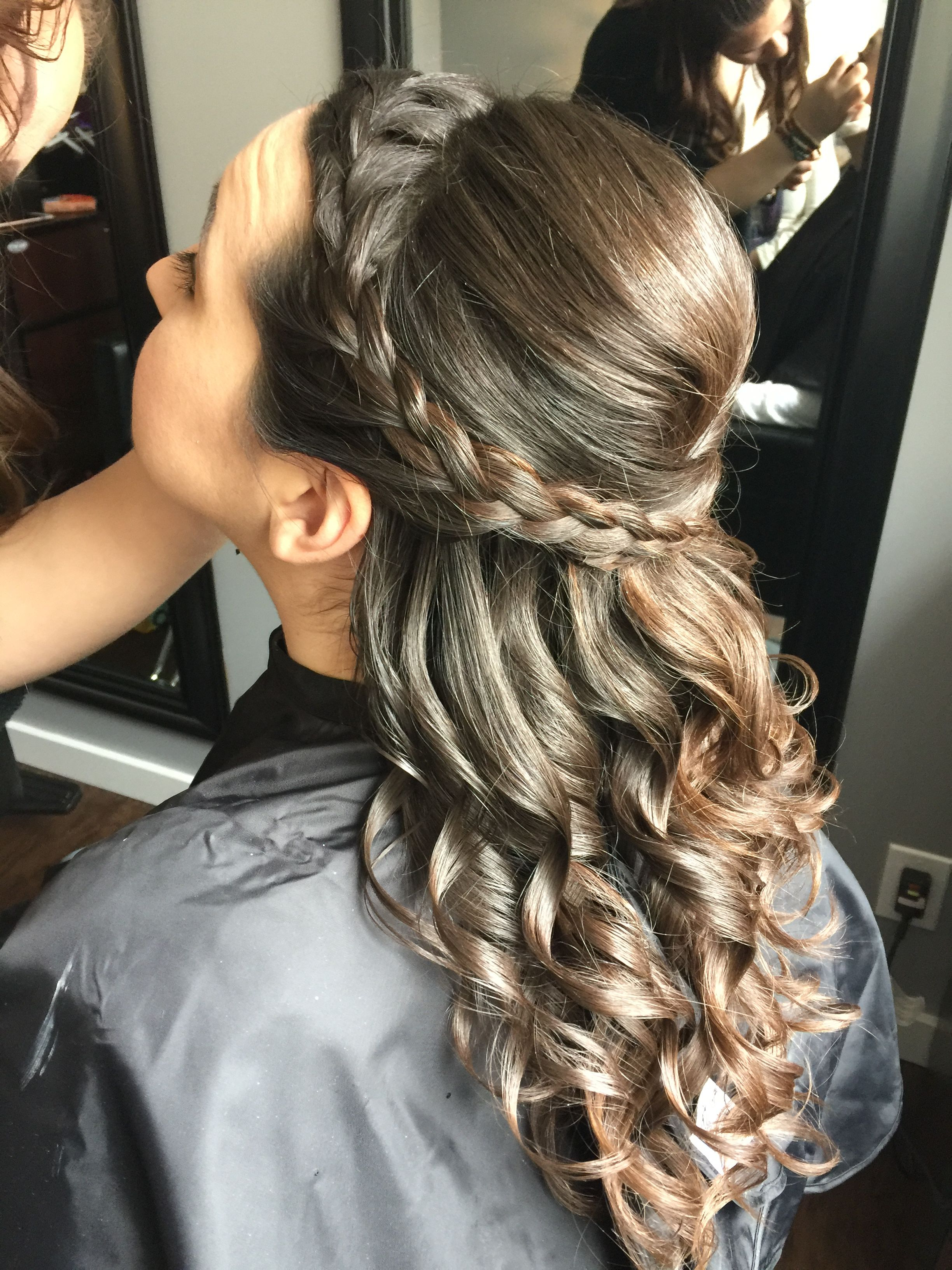 Hairstyles : Half Up Down Rosette Hairstyle Fun Prom And With Inside Favorite Rosette Curls Prom Hairstyles (View 7 of 20)