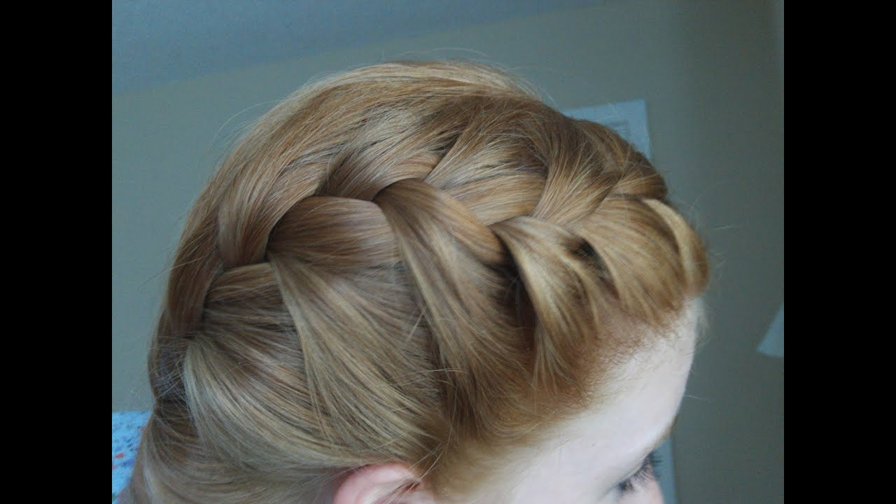 How To – French Braid Your Hair In Two Parts – Youtube For Widely Used Blooming French Braid Prom Hairstyles (View 8 of 20)