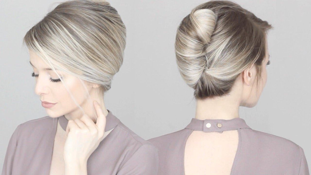 How To: French Twist Updo Hair Tutorial – Youtube Pertaining To Well Liked Classic French Twist Prom Hairstyles (Gallery 3 of 20)