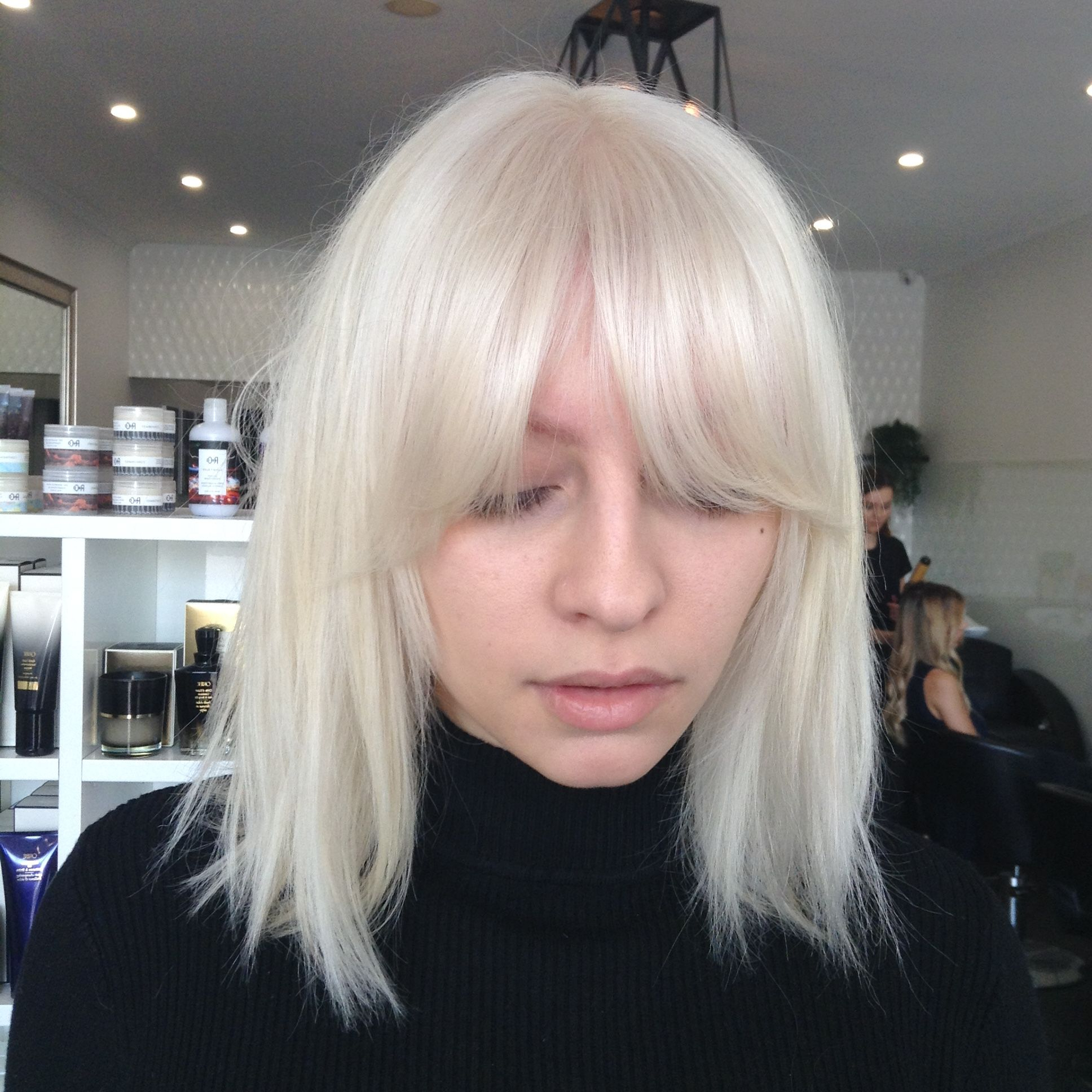 Ice Blonde And Bangs Solid Heavy Fringe (View 11 of 20)
