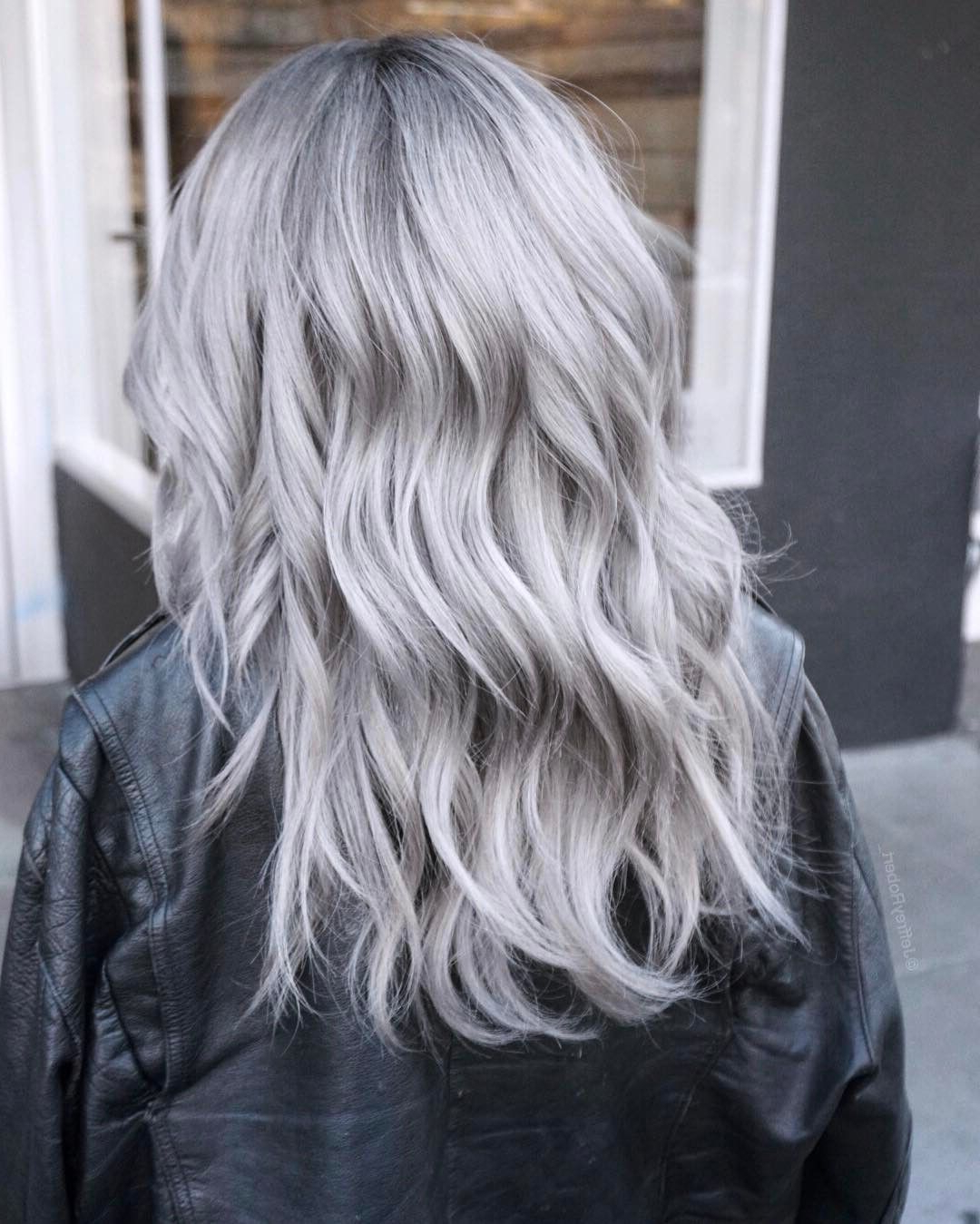 Icy Silver Hair Transformation Is The 2019's Coolest Trend In 2019 For Newest Loose Layers Hairstyles With Silver Highlights (Gallery 5 of 20)