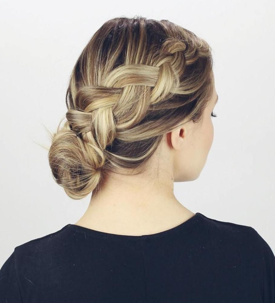 Interview Intended For Most Popular Diagonal Braid And Loose Bun Hairstyles For Prom (View 12 of 20)
