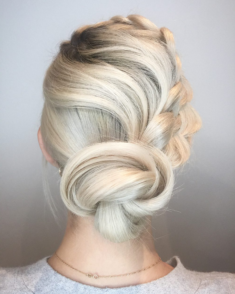 Latest Classic Prom Updos With Thick Accent Braid Pertaining To 34 Cutest Prom Updos For 2019 – Easy Updo Hairstyles (View 13 of 20)