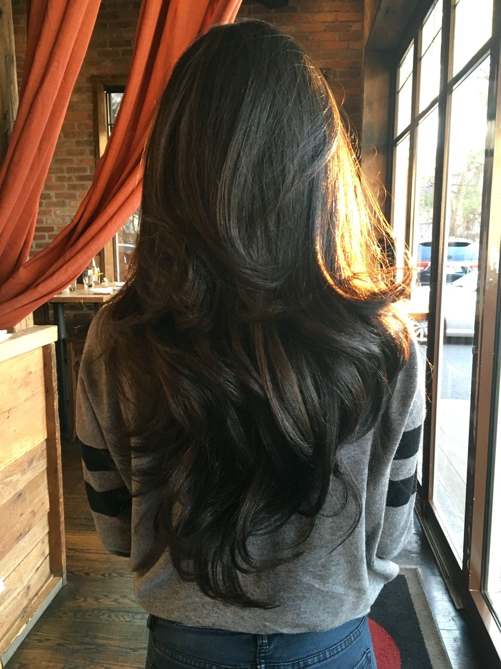 Layered V Cut Regarding Recent Reddish Brown Hairstyles With Long V Cut Layers (View 2 of 20)