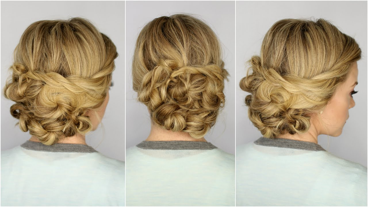 Looped Updo – Youtube Intended For Most Popular Looped Low Bun Hairstyles (View 14 of 20)