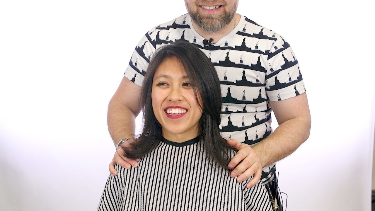 Medium Length Layered Haircut – Thesalonguy – Youtube With Regard To Widely Used Mid Back Brown U Shaped Haircuts With Swoopy Layers (View 10 of 20)