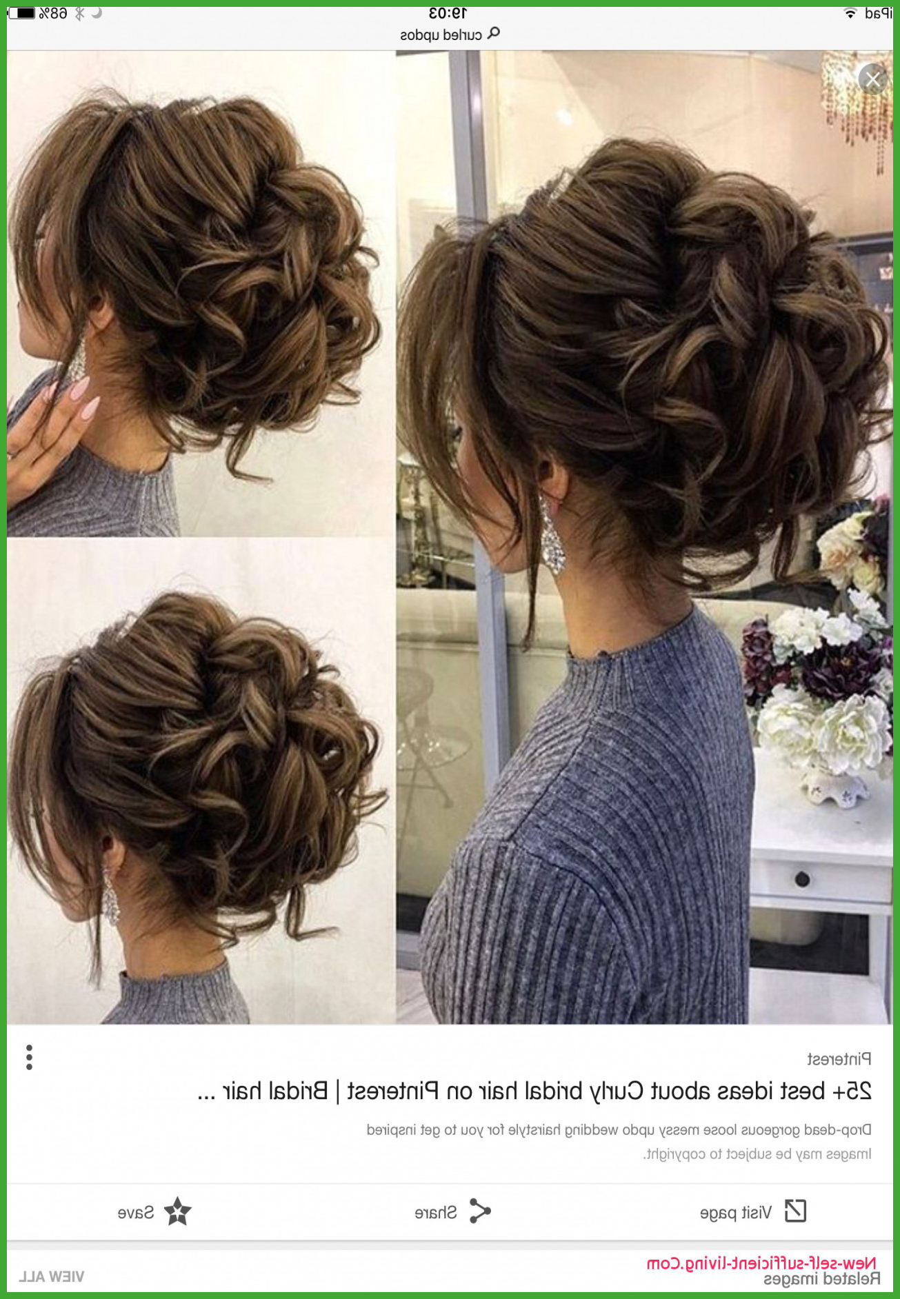 Messy Bun With Bangs For Prom With Regard To Most Recent Big Curly Bun Prom Updos (View 11 of 20)
