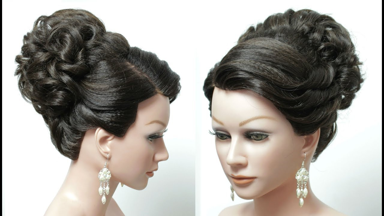 Messy High Bun Hairstyle For Wedding (View 13 of 20)