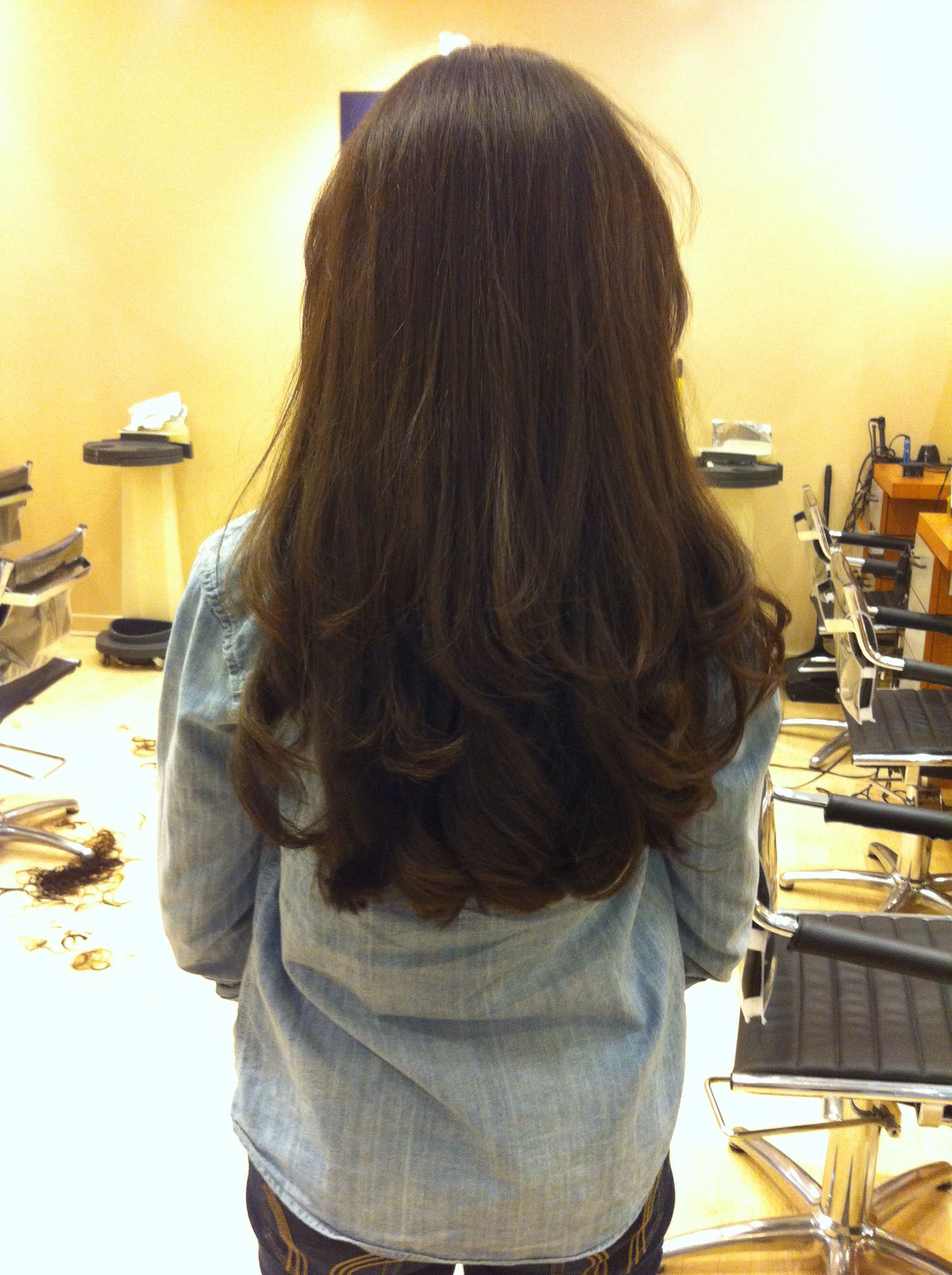 Mid Back Length With Layers (View 16 of 20)
