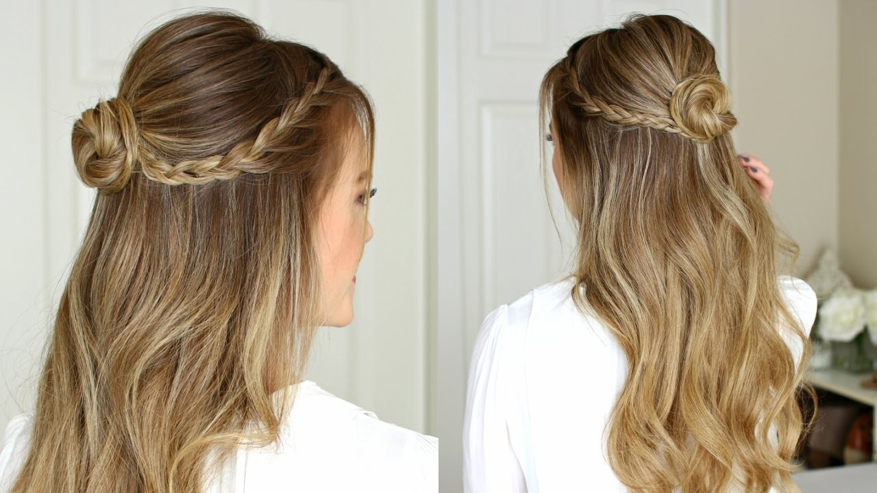 Missy Sue – Youtube Intended For Most Popular Half Prom Updos With Bangs And Braided Headband (View 14 of 20)