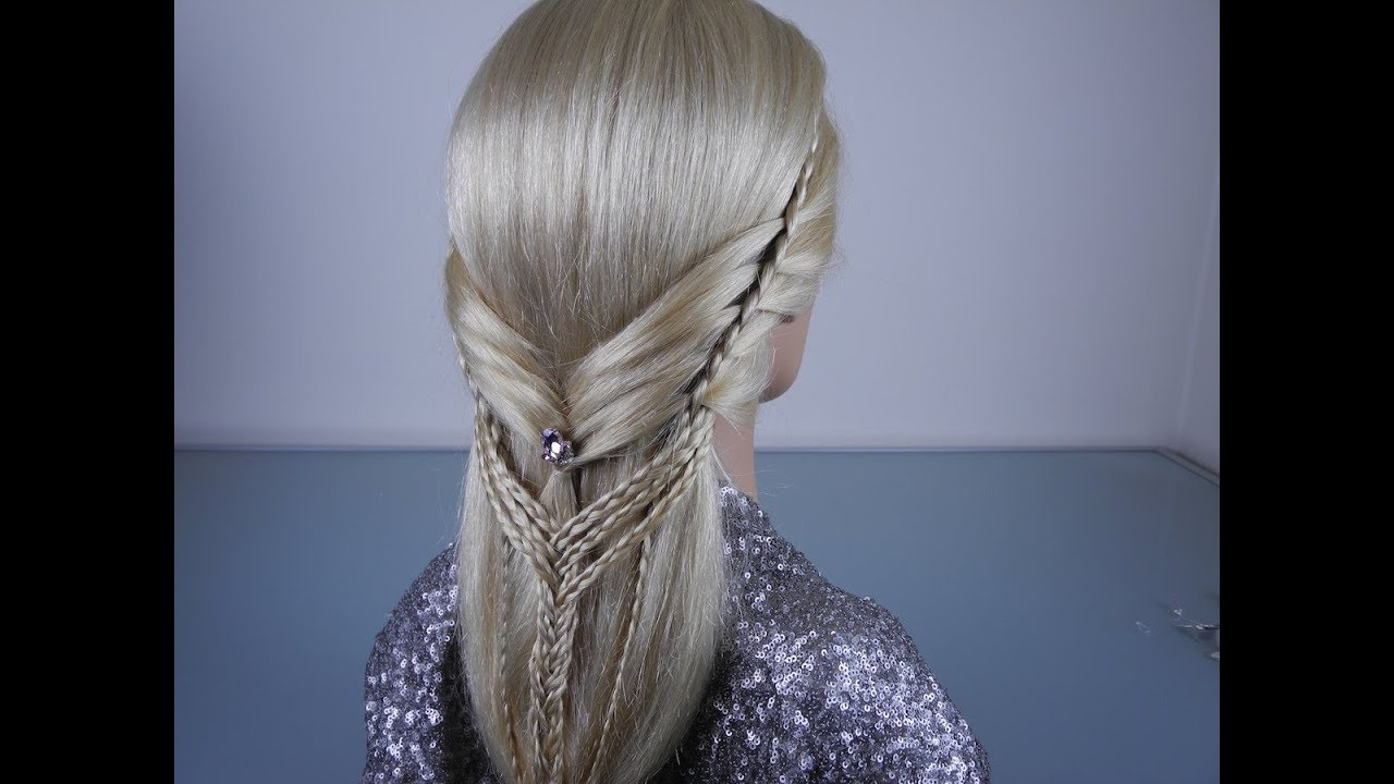 Most Current Braid Spikelet Prom Hairstyles In Interesting Weaving. Braiding Braids. Lesson  (View 13 of 20)