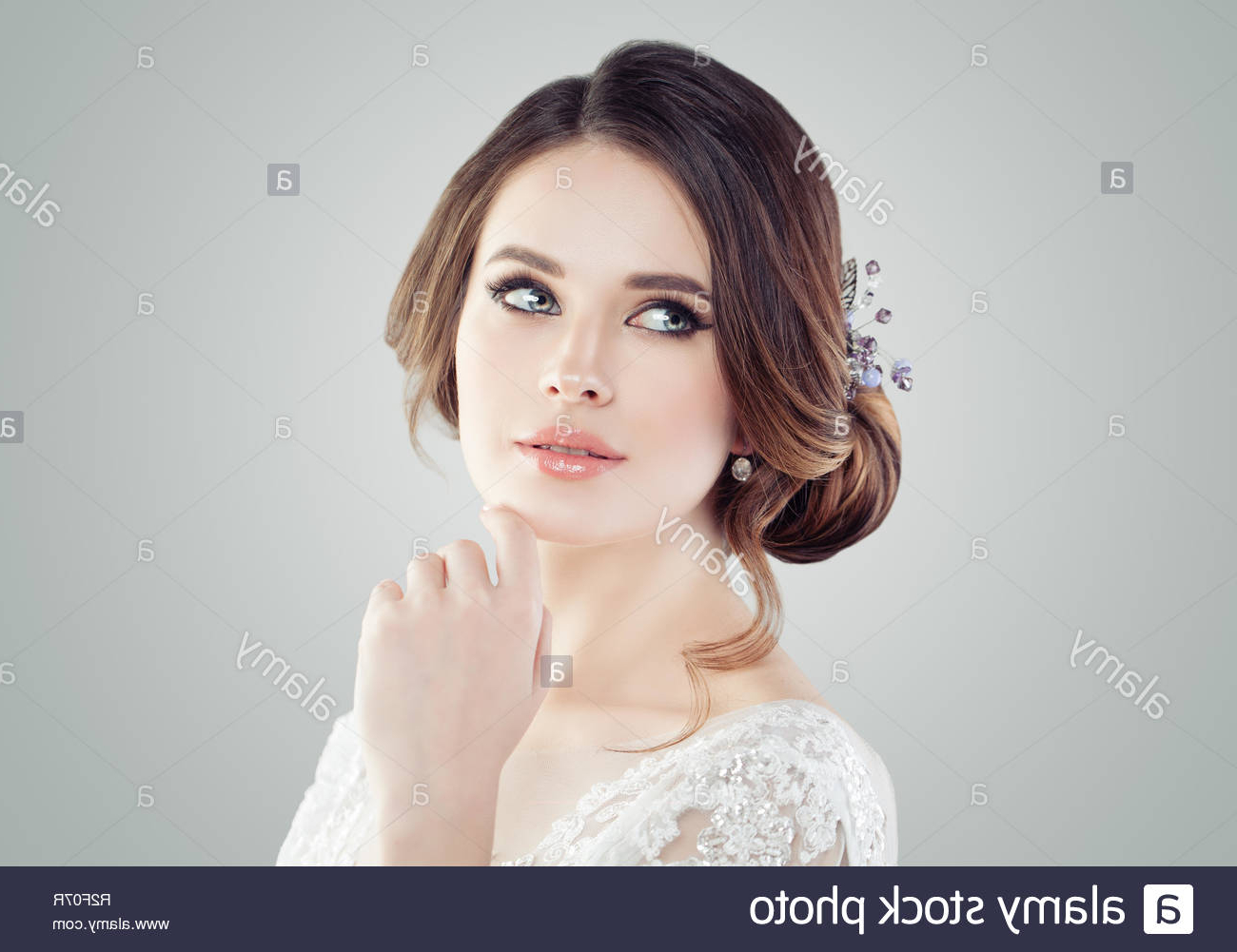 Most Current Jewelled Basket Weave Prom Updos Pertaining To Updo Stock Photos & Updo Stock Images – Alamy (View 18 of 20)