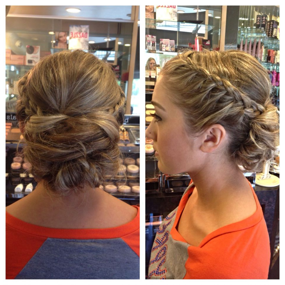 Most Current Messy Braided Prom Updos Throughout Messy Bun Hairstyles For Prom (View 16 of 20)