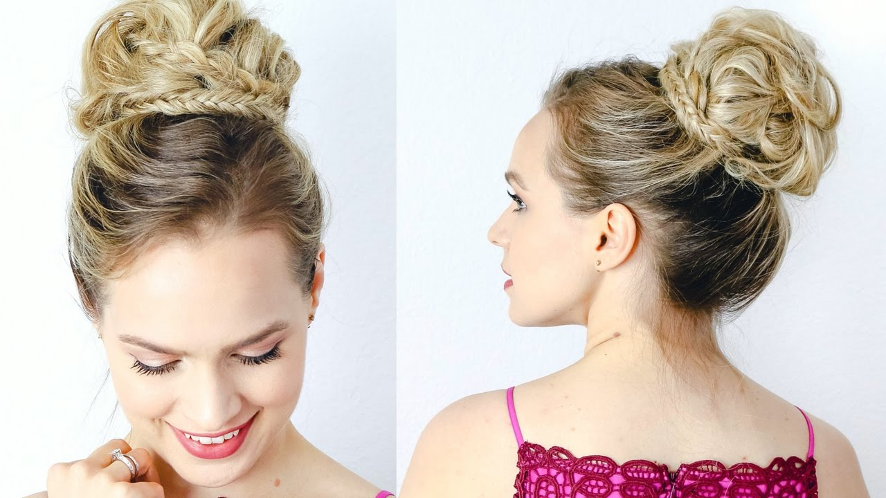 Most Current Messy High Bun Prom Updos Throughout Red Carpet Inspired High Updo – Hair Tutorial – Youtube (View 15 of 20)