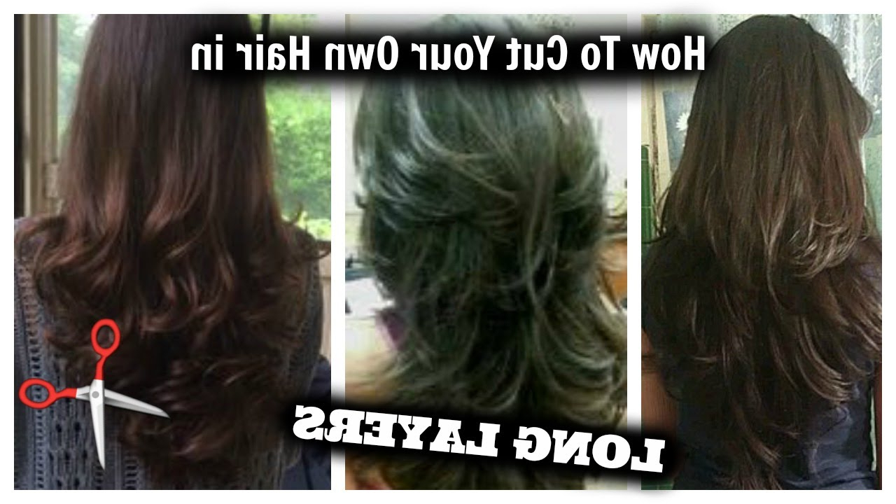 Most Current Multi Layered Mix Long Hairstyles With Regard To How I Cut My Hair In Layers At Home!! │ Long Layered Hair Cut (View 10 of 20)