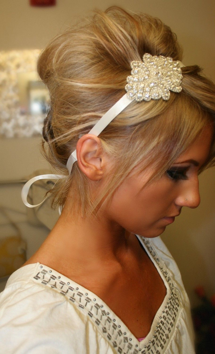 Most Current Teased Prom Updos With Cute Headband Intended For Love! Cute Hairstyle For Thanksgiving Or Christmas Day! :) I Need (View 11 of 20)