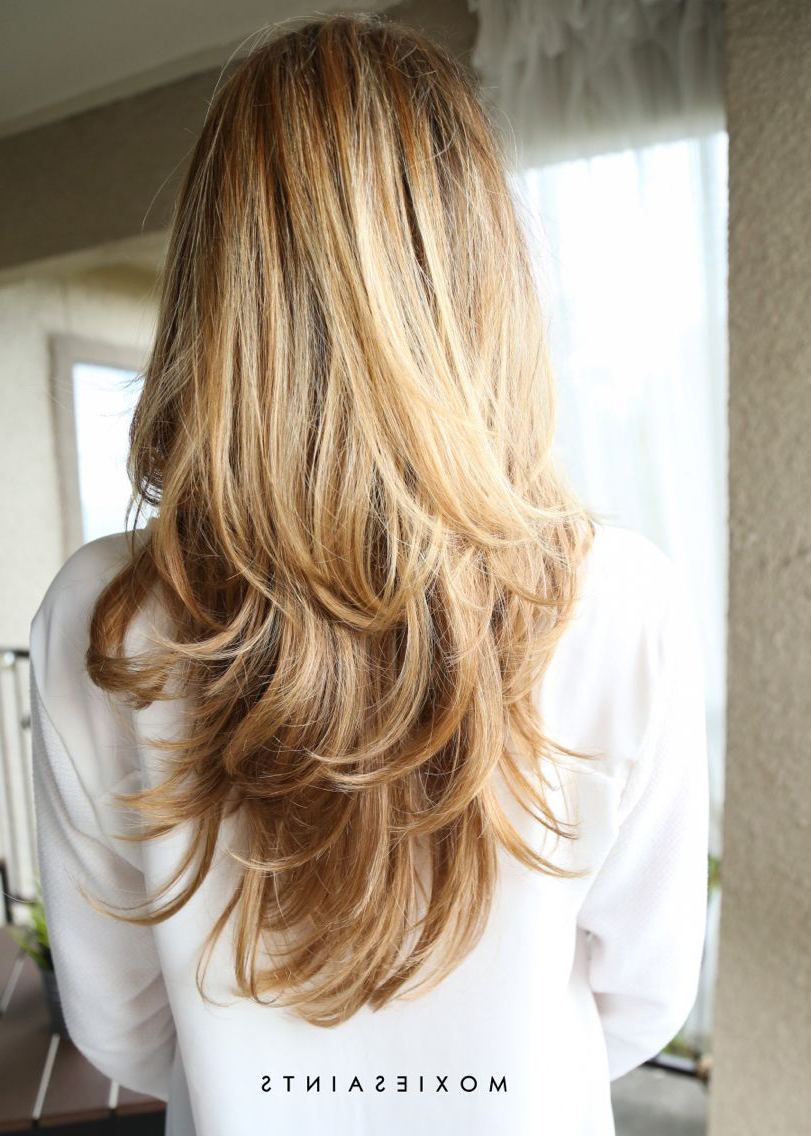 Most Popular Long Feathered Haircuts With Layers Inside Long Layers. Sombre With Faded Ombre (View 16 of 20)