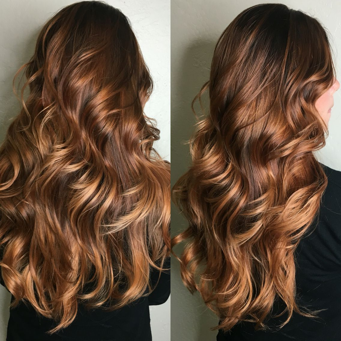 Most Popular Warm Toned Brown Hairstyles With Caramel Balayage Throughout Copper Balayage, Copper Hair, Brunette Hair, Long Hair, Curls (View 17 of 20)
