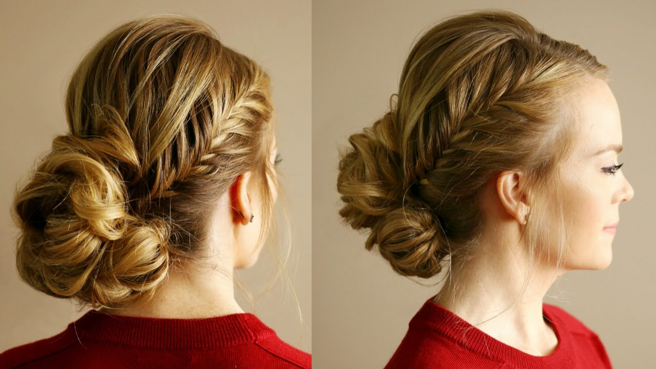 Most Recent Accent Braid Prom Updos With Regard To Fishtail Accent Braid Updo (View 7 of 20)