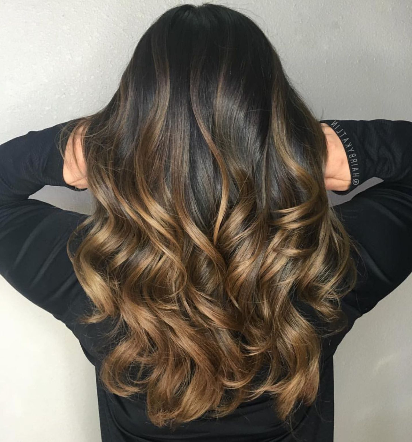 Featured Photo of Curly Golden Brown Balayage Long Hairstyles