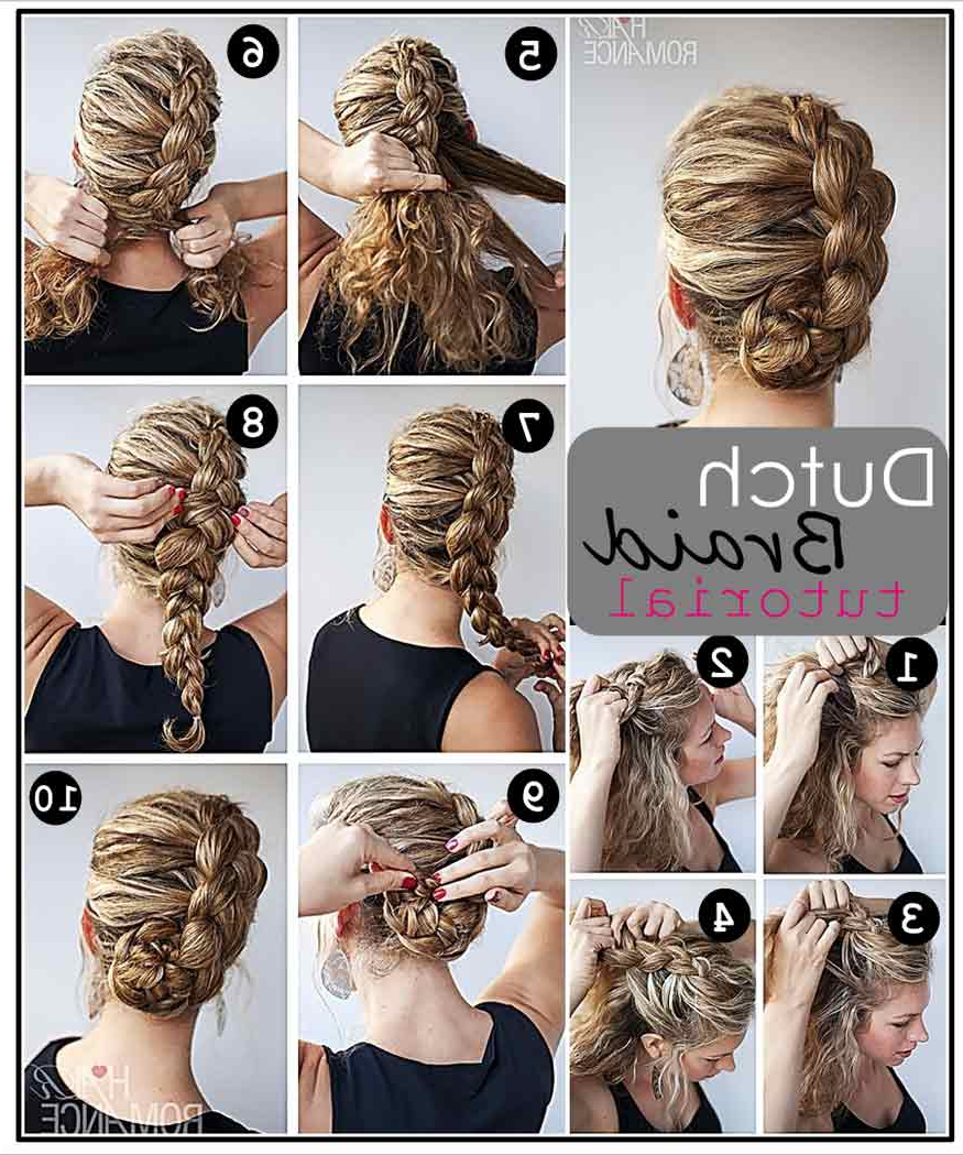 Most Recent Dutch Braid Prom Updos Inside Dutch Braid Updo Hairstyle Tutorial – Casual – Careforhair.co (View 15 of 20)