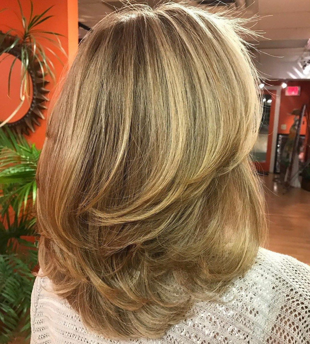 Most Recent Mid Back Brown U Shaped Haircuts With Swoopy Layers In Swoopy Layers For Mid Length Hair (View 13 of 20)