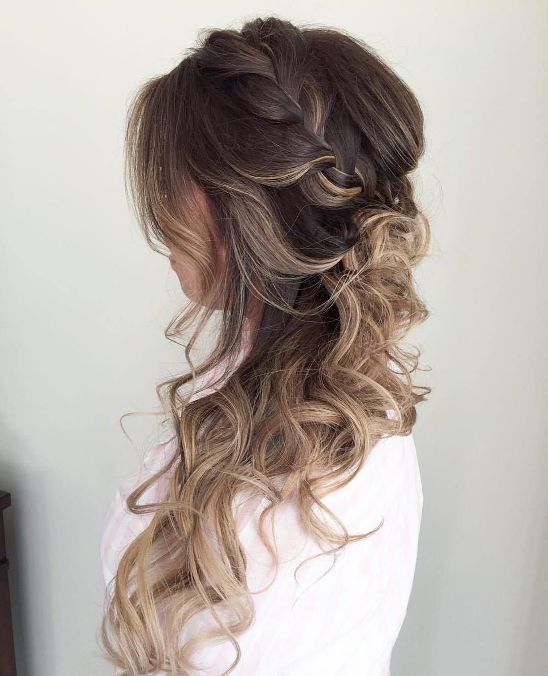 Most Recent Twisted Prom Hairstyles Over One Shoulder With 40 Picture Perfect Hairstyles For Long Thin Hair In (View 5 of 20)