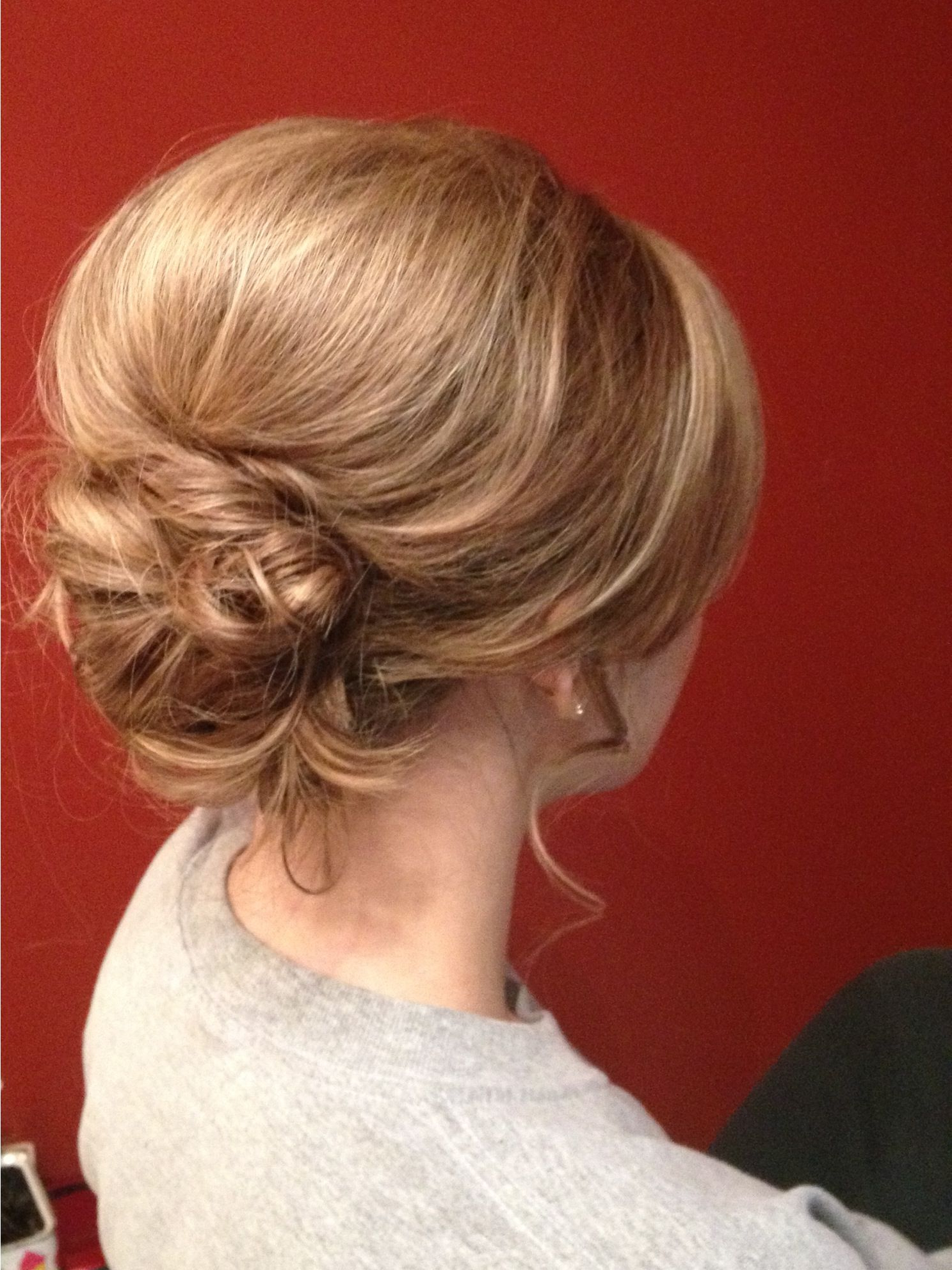 Most Recent Volumized Low Chignon Prom Hairstyles Throughout Messy Low Bun With A Lot Of Volume (big Bump) (View 3 of 20)
