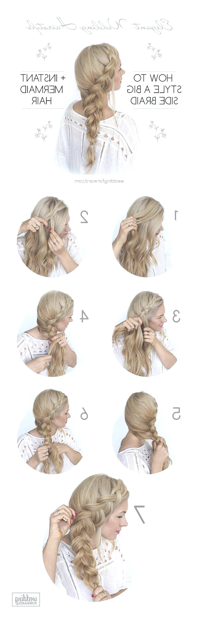 Most Recently Released Elegant Braid Side Ponytail Hairstyles Throughout Hairstyles : Side Wedding Hairstyle Cool Hairstyles Ideas Ponytail (View 17 of 20)