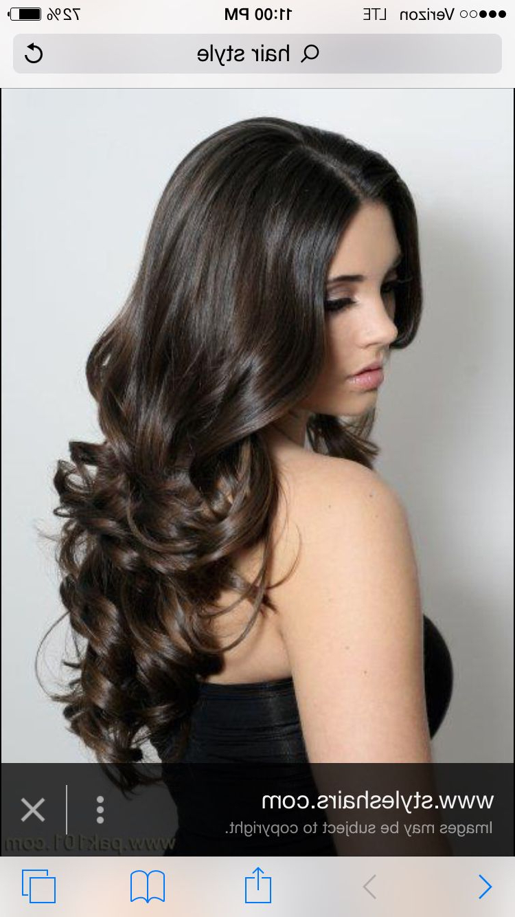 Most Recently Released Full And Bouncy Long Layers Hairstyles Pertaining To Bouncy Curls (View 15 of 20)