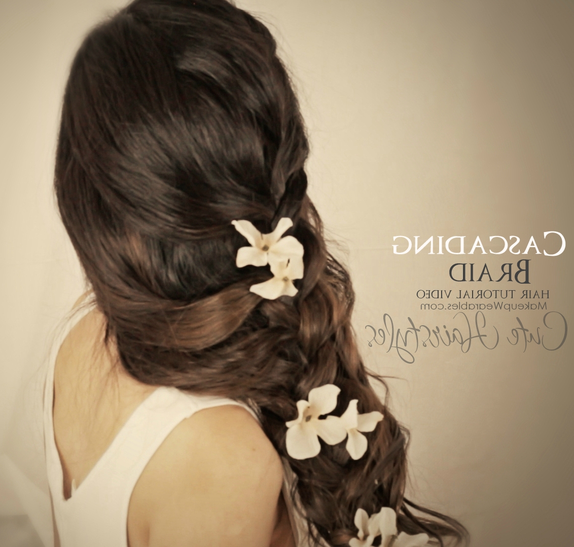 Most Recently Released Long Cascading Curls Prom Hairstyles Intended For 2 Most Romantic, Curly Half Up Hairstyles Updos (View 14 of 20)