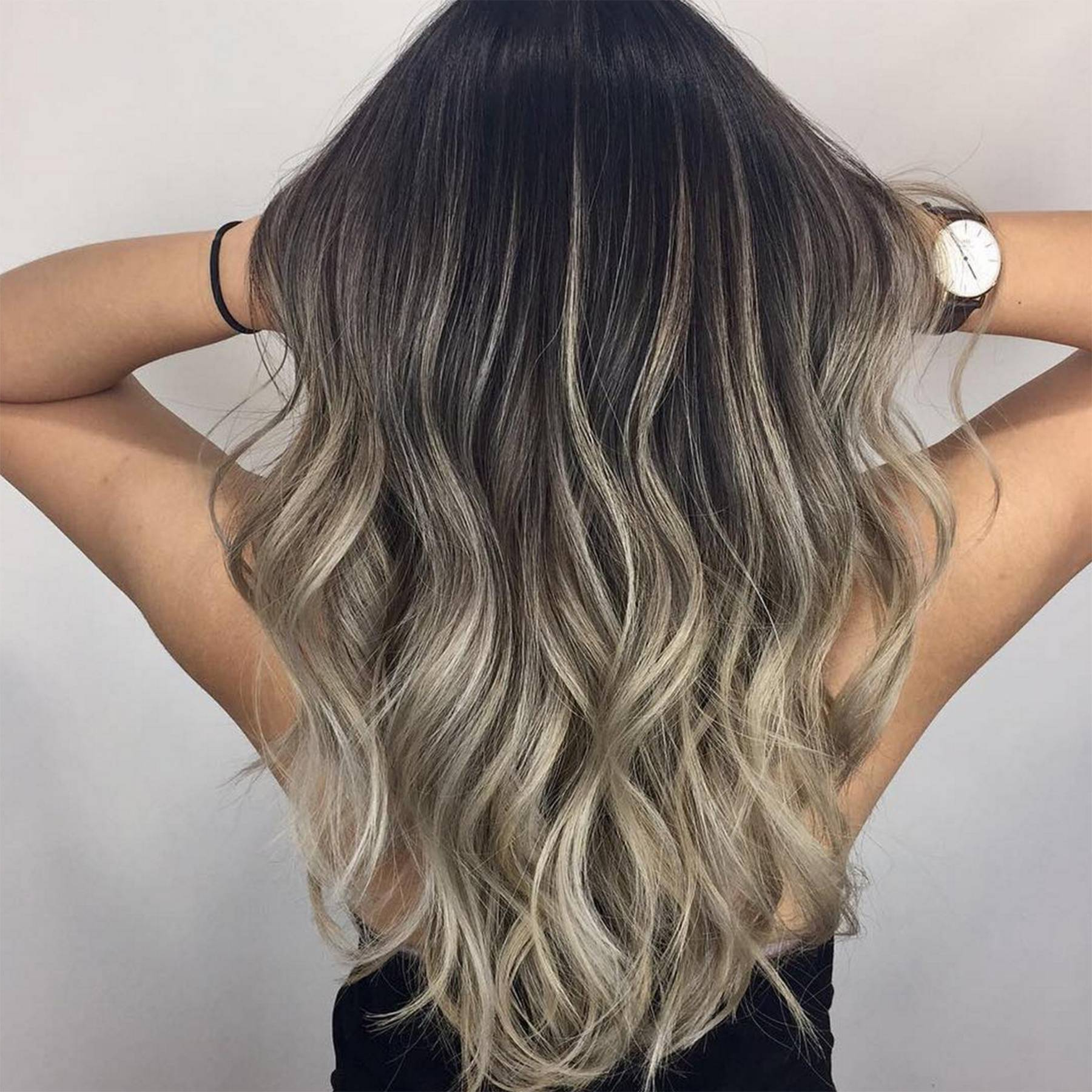 Most Recently Released Long Dark Hairstyles With Blonde Contour Balayage Intended For Ash Balayage Inspiration, From Pictures To Products (View 13 of 20)