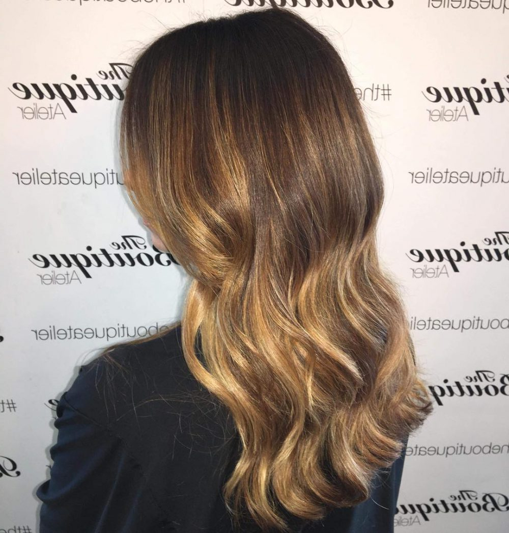 Most Recently Released Long Layered Light Chocolate Brown Haircuts Inside 34 Sweetest Caramel Highlights On Light To Dark Brown Hair (2019) (View 13 of 20)