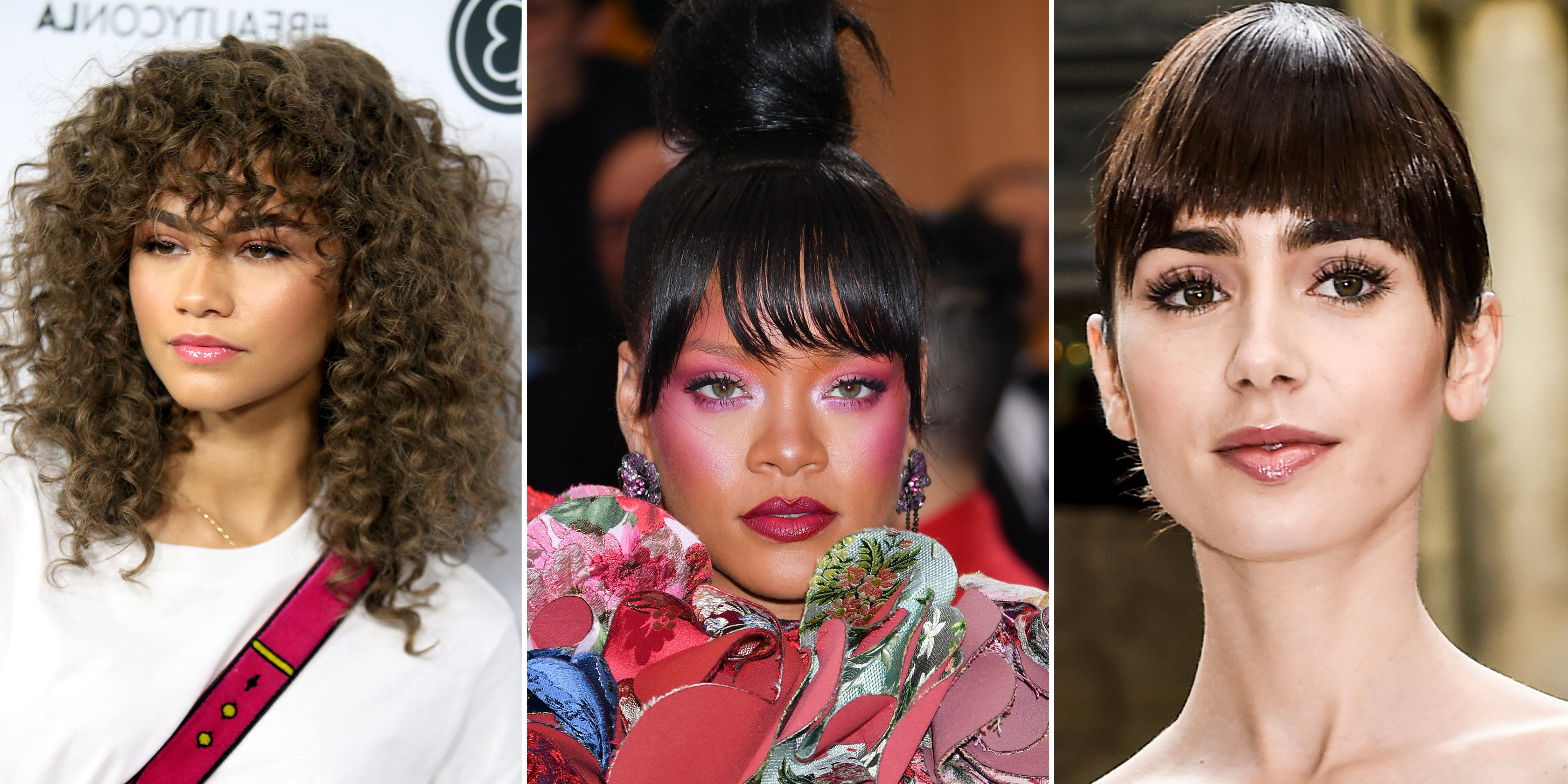 Most Recently Released Side Swept Curls And Draped Bangs Hairstyles Regarding 11 Cute Bang Styles To Try (View 13 of 20)