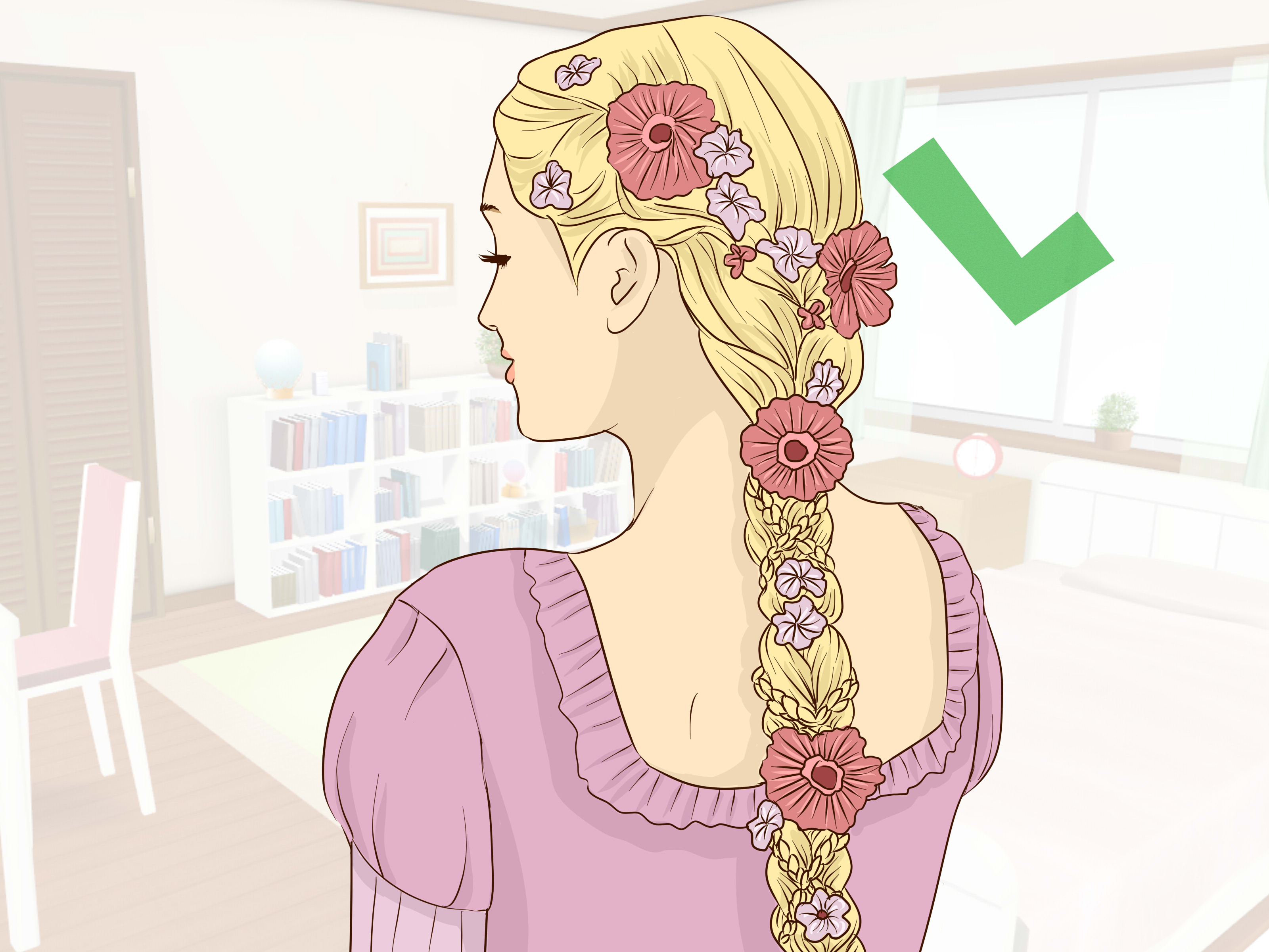 Most Recently Released Tangled Braided Crown Prom Hairstyles Within How To Get Rapunzel Hair (with Pictures) – Wikihow (View 17 of 20)