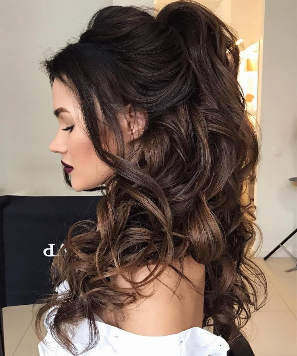 Most Recently Released Voluminous Prom Hairstyles To The Side With Regard To Half Up Half Down Wedding Hairstyles – 50 Stylish Ideas For Brides (View 14 of 20)