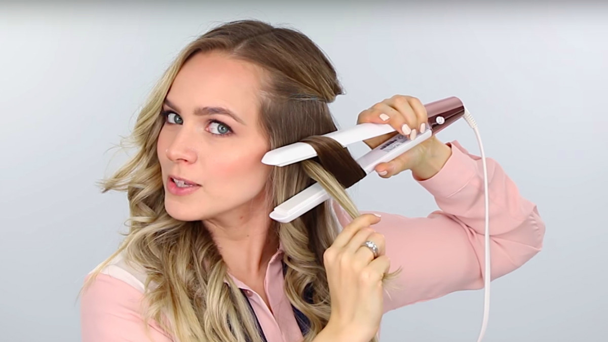 Most Recently Released Winding Waves Hairstyles With How To Curl Hair With A Flatiron – Fashionista (View 12 of 20)