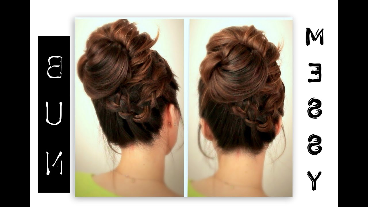 Most Up To Date Big Curly Bun Prom Updos Intended For ☆ Cute, Everyday School Hairstyles (View 13 of 20)