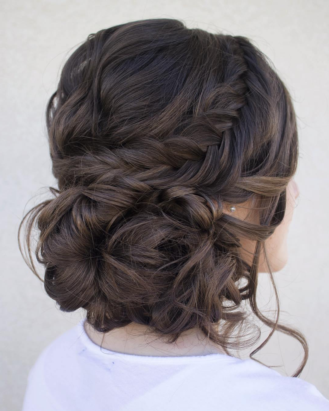 Most Up To Date Classic Prom Updos With Thick Accent Braid Throughout Trubridal Wedding Blog (View 16 of 20)