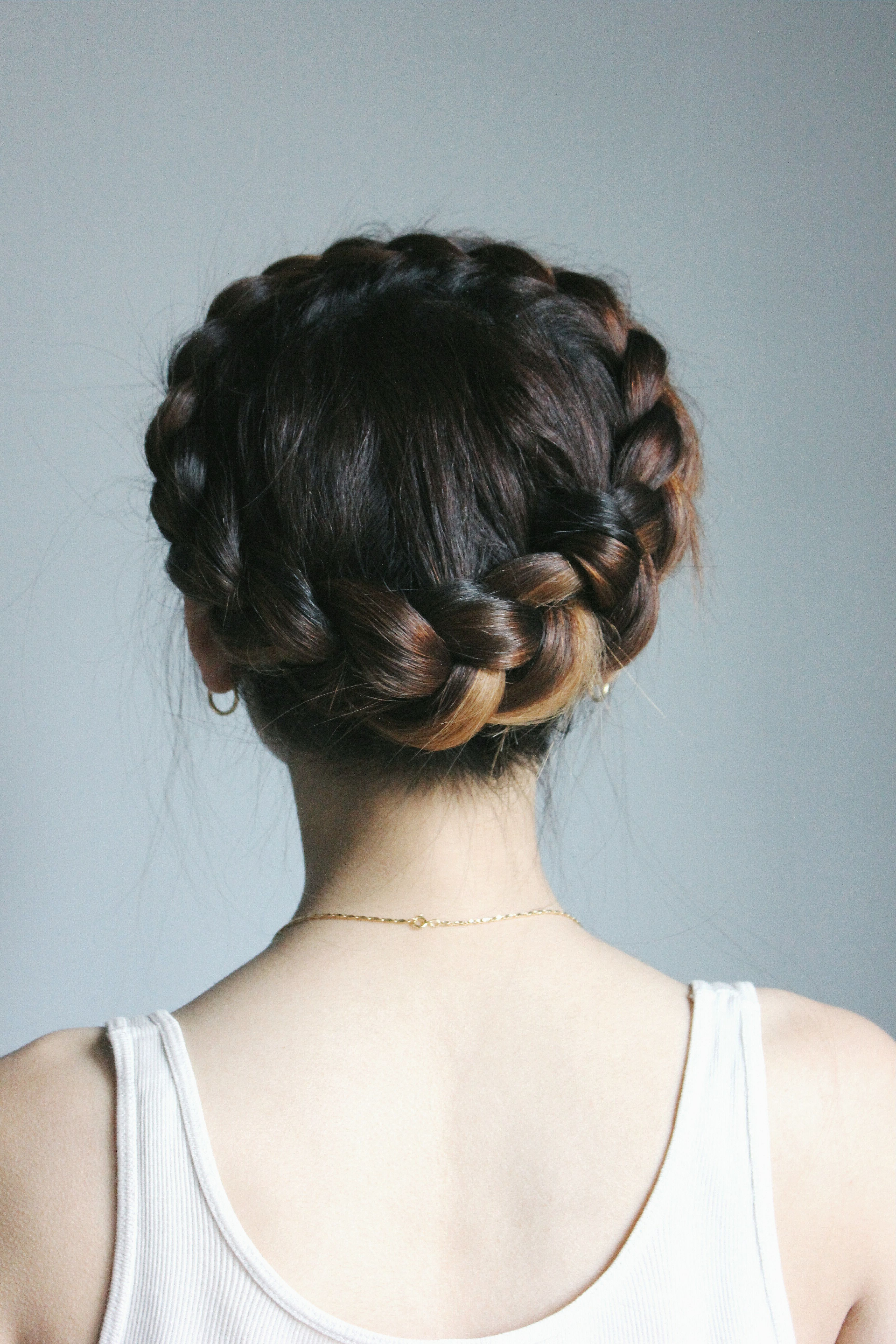 Most Up To Date Double Crown Braid Prom Hairstyles Throughout Dutch Crown Braid // (View 15 of 20)