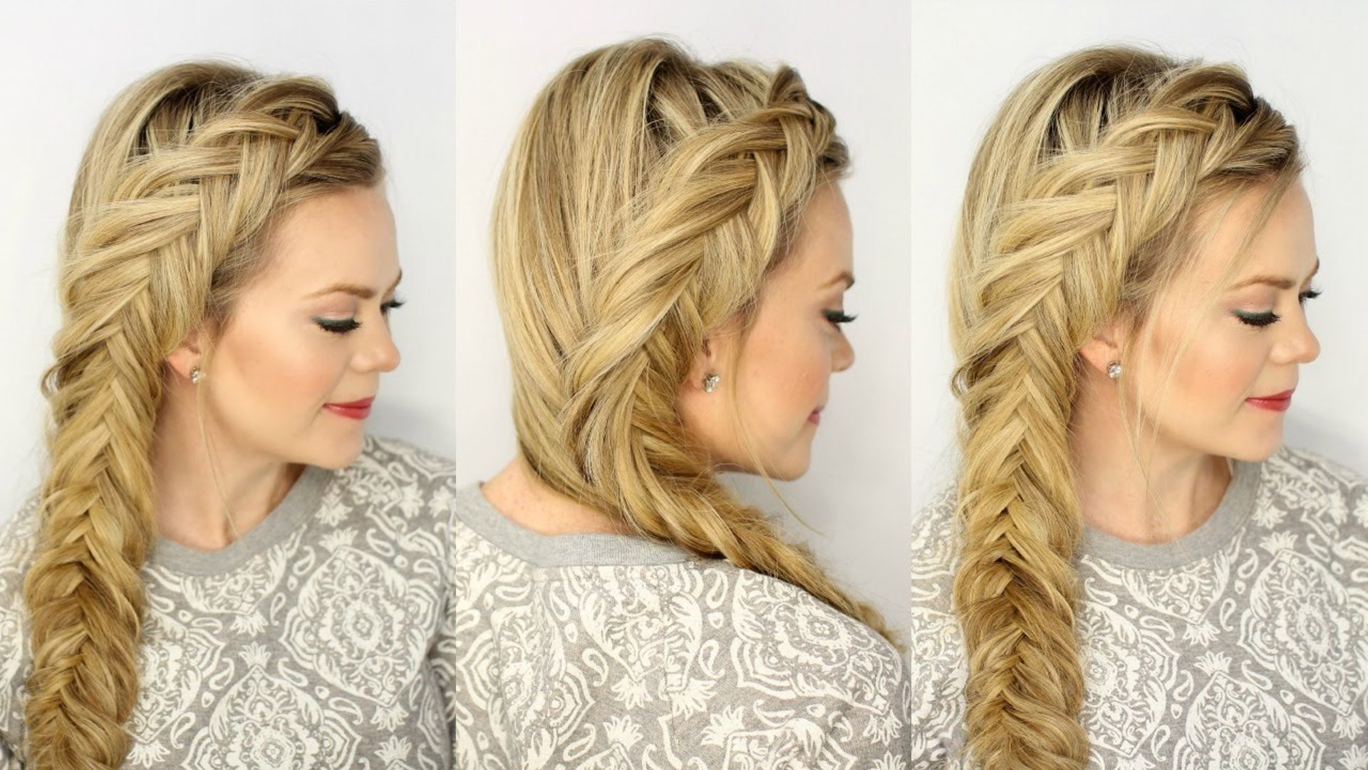 Most Up To Date Double Fishtail Braids For Prom With Easy Fishtail Braids Tutorial – Video Dailymotion (View 10 of 20)