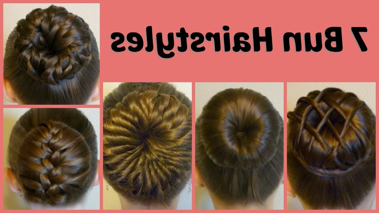 Most Up To Date Jewelled Basket Weave Prom Updos Pertaining To 7 Ways To Make A Bun Using A Hair Donut Compilation! 1 Week Of Bun (View 14 of 20)