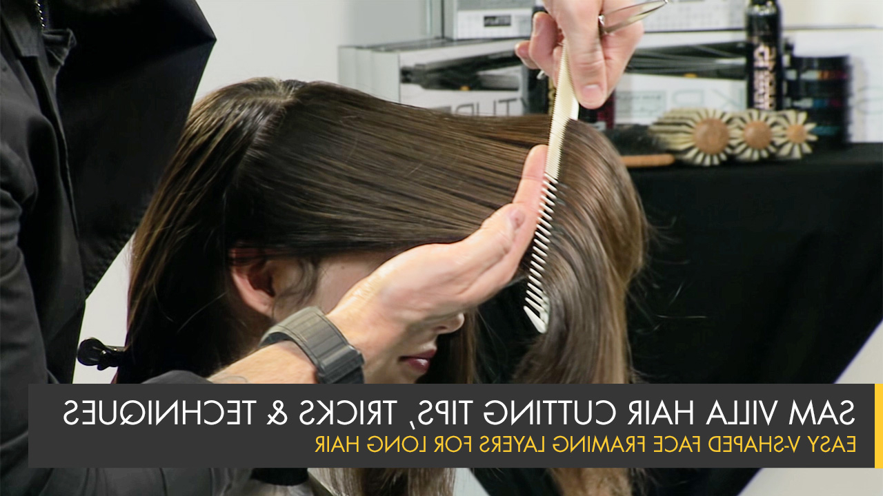 Most Up To Date Long Feathered Layers For U Shaped Haircuts Inside Simple Way To Cut V Shaped Face Framing Layers For Long Hair (View 15 of 20)