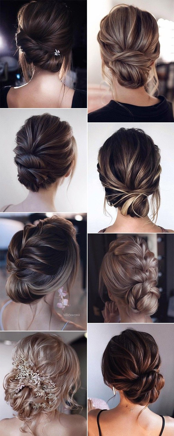 Most Up To Date Low Pearled Prom Updos For 15 Stunning Low Bun Updo Wedding Hairstyles From Tonyastylist (View 6 of 20)