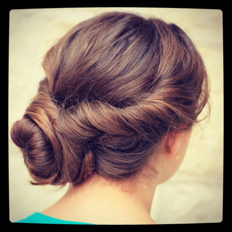 Most Up To Date Messy Twisted Chignon Prom Hairstyles Intended For Hairstyles : Easy Twist Updo Prom Hairstyles Cute Girls Also With (View 11 of 20)