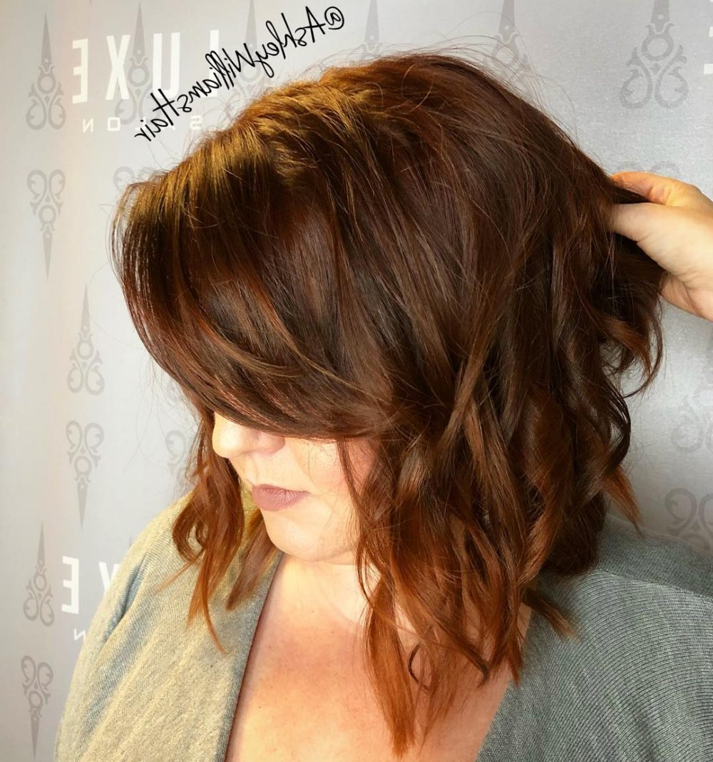 Most Up To Date Mid Back Brown U Shaped Haircuts With Swoopy Layers Throughout Side Swept Bangs: 46 Ideas That Are Hot In (View 16 of 20)